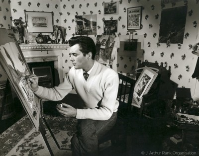 Early Publicity Still, at easel