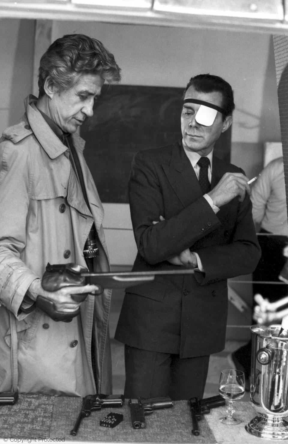 with Alain Resnais, Providence (1978)