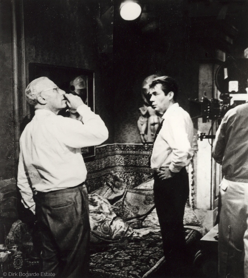 with George Cukor, on set of Justine (1969), Hollywood