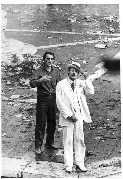 Dirk with Piero Tosi, shooting Death in Venice