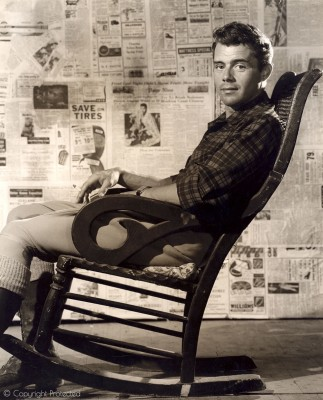 Early Publicity Still, in a Rocking Chair