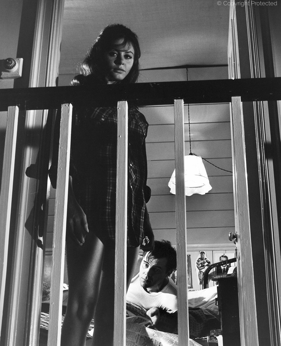 with Sarah Miles, The Servant (1963)