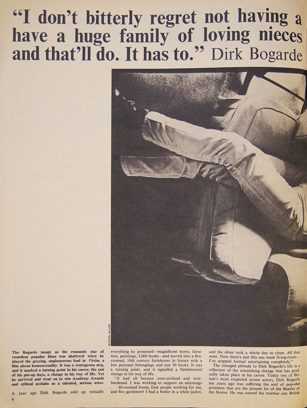 Dirk Bogarde » Woman's Mirror – Dec 24 1966